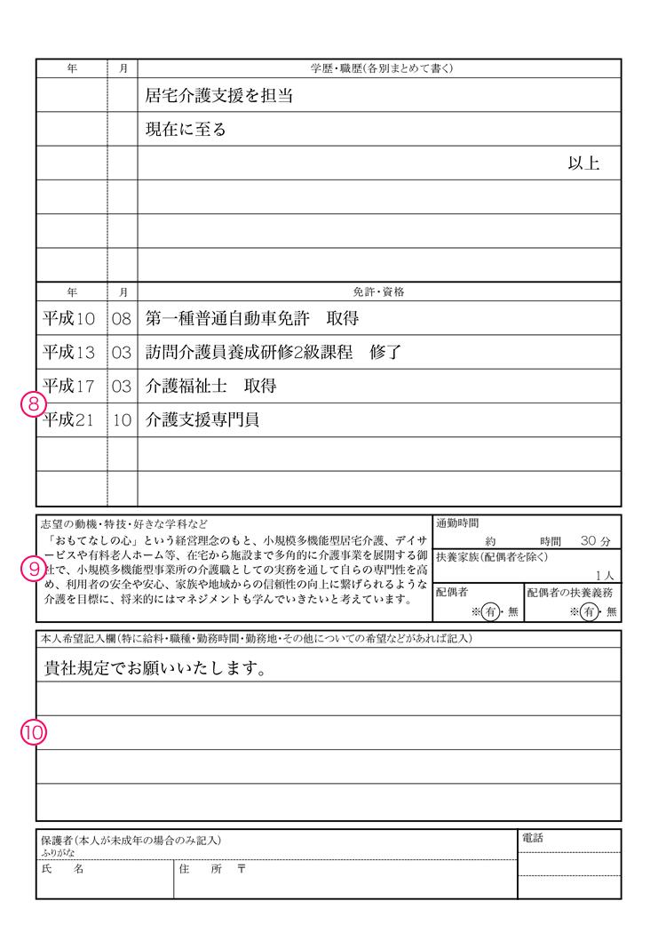 平成32年 履歴書